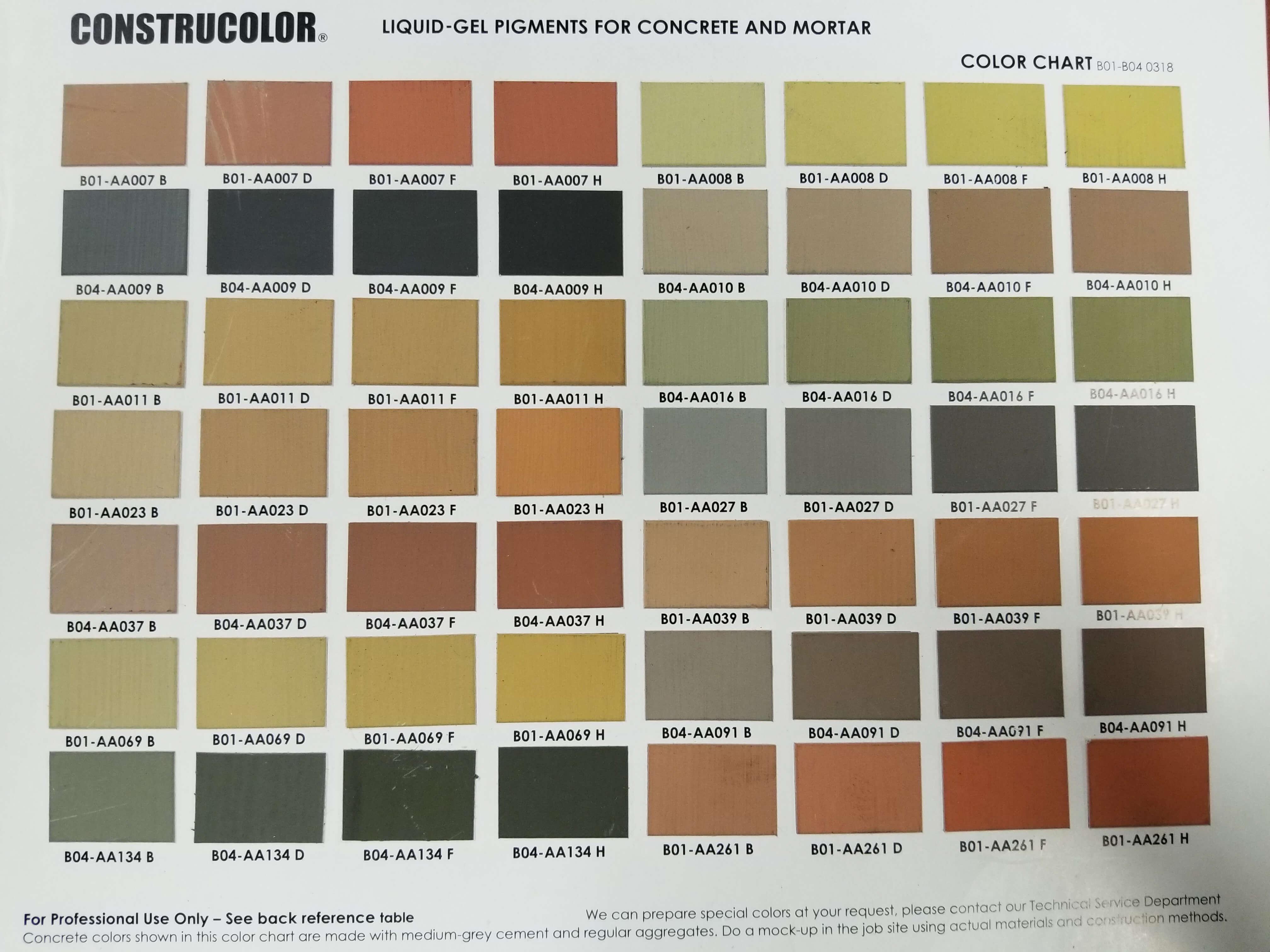 Bar M Supplies Concrete Coloring